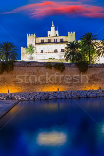 Almudaina Palace in Palma de Mallorca Majorca Stock photo © lunamarina