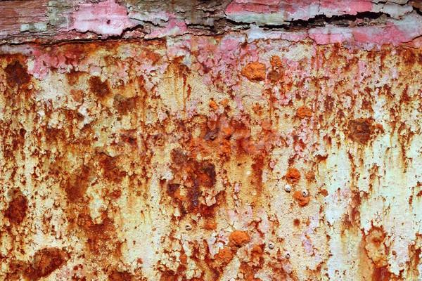 rusty grunge aged steel iron paint oxidized texture Stock photo © lunamarina