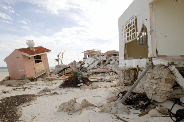 Cancun houses after hurricane storm Stock photo © lunamarina