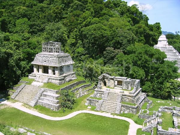 Palenque mayan ruins maya Chiapas Mexico Stock photo © lunamarina