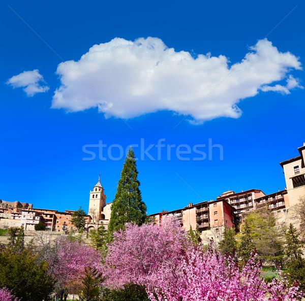 Medieval ciudad primavera España pared calle Foto stock © lunamarina