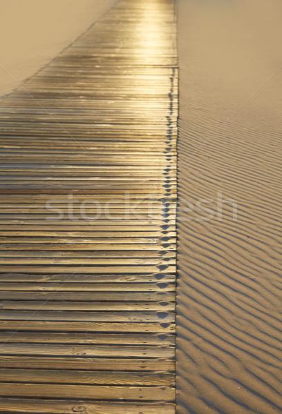 пляж песок текстуры волнистый Средиземное море Сток-фото © lunamarina