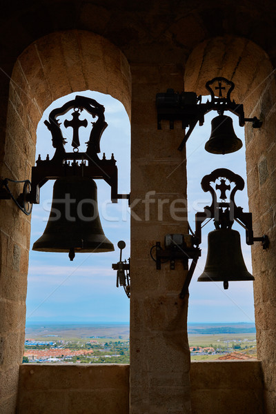Concatedral de Santamaria Belfry bell Caceres Stock photo © lunamarina