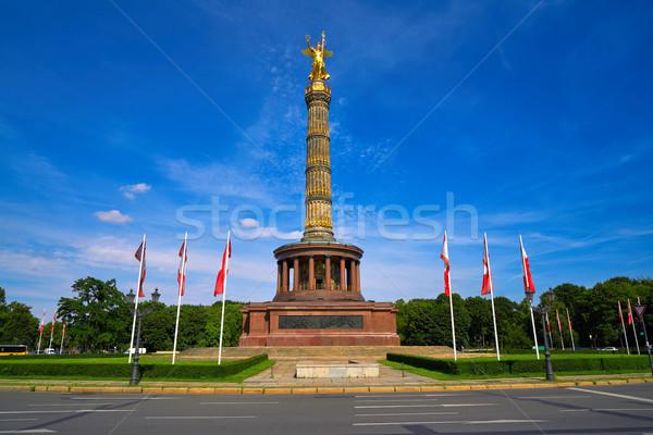 Columna Berlín Alemania victoria ciudad ángel Foto stock © lunamarina