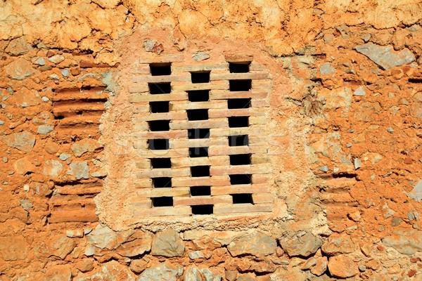 Briques fenêtre maçonnerie mur anciens architecture Photo stock © lunamarina