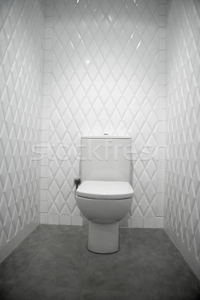 toilet in a white room diamond shape tiles  Stock photo © lunamarina