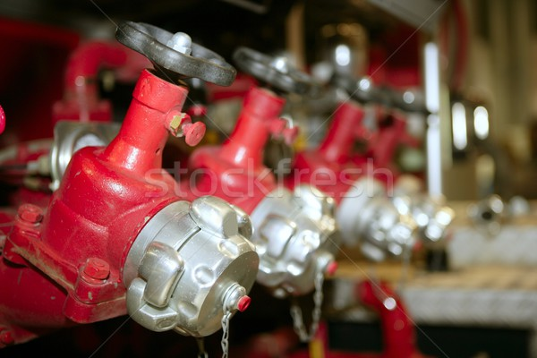 fire truck hose faucets in a row Stock photo © lunamarina