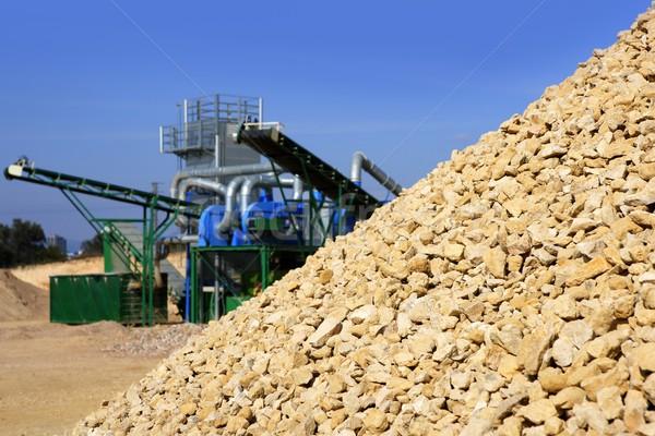 crushed pound stone mound quarry Stock photo © lunamarina