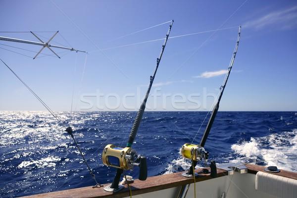Angler boat big game fishing in saltwater Stock photo © lunamarina