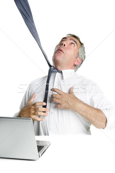 tie hangman senior businessman stressed Stock photo © lunamarina