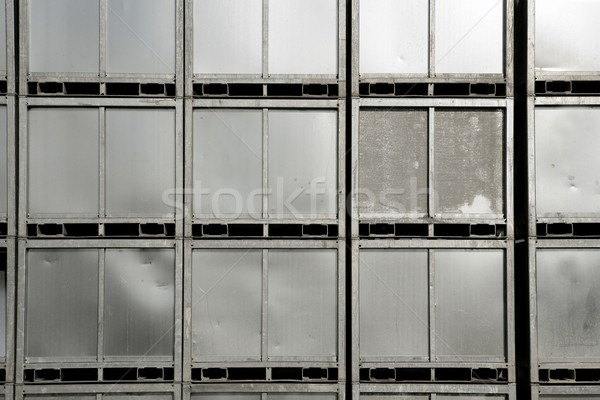 Background of steel silver container stacked Stock photo © lunamarina