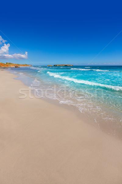 ビーチ 地中海 楽園 太陽 海 背景 ストックフォト © lunamarina