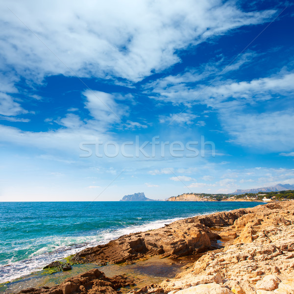 Ifach Penon view from Moraira alicante Stock photo © lunamarina
