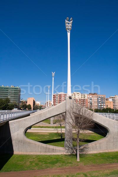 Valencia arts brug Spanje straat Blauw Stockfoto © lunamarina