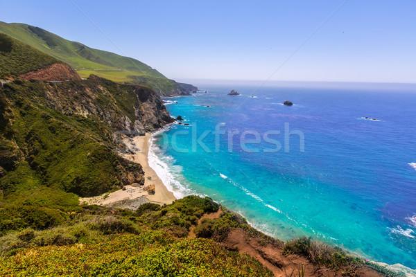 California  beach in Big Sur in Monterey County Route 1 Stock photo © lunamarina