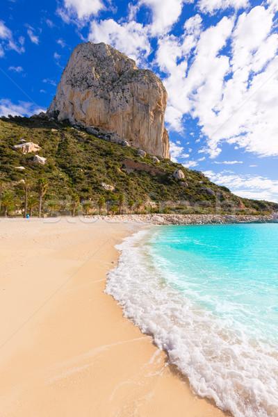 Calpe Cala el Raco beach in Mediterranean Alicante Stock photo © lunamarina