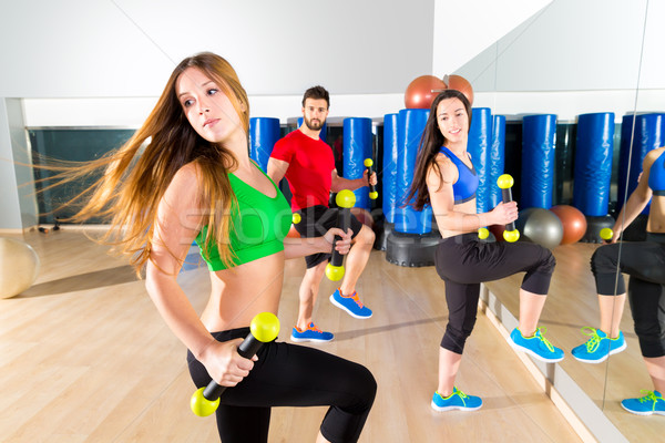 Stockfoto: Zumba · dans · cardio · mensen · groep · fitness