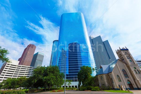 Houston centro de la ciudad horizonte Texas paisaje urbano cielo Foto stock © lunamarina