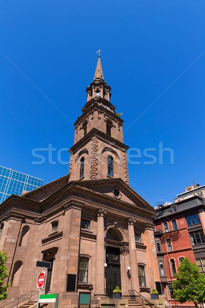 Boston Arlington Street Church in Massachusetts Stock photo © lunamarina