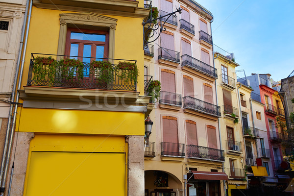 Valencia Spanje vierkante centrum straat kunst Stockfoto © lunamarina