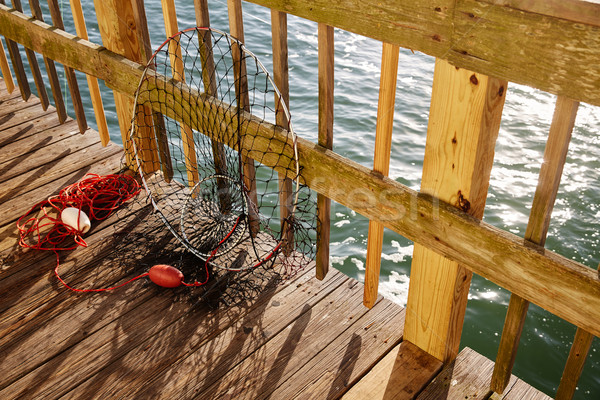 Daytona Beach Florida fishing tackle at pier  Stock photo © lunamarina