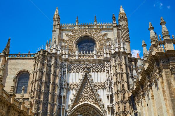 Seville cathedral Saint Christopher door Sevilla Stock photo © lunamarina