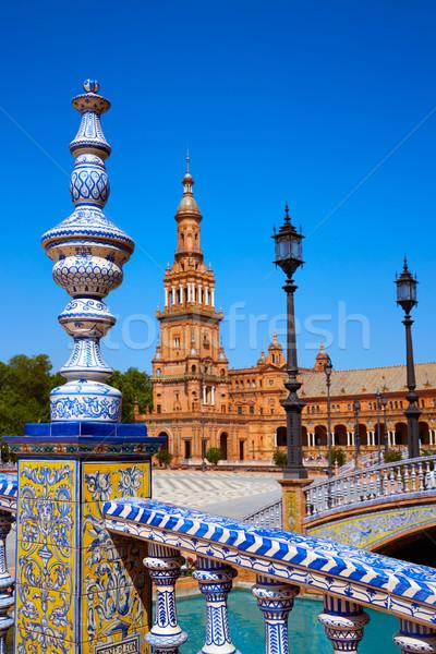Seville Sevilla Plaza Espana Andalusia Spain Stock photo © lunamarina