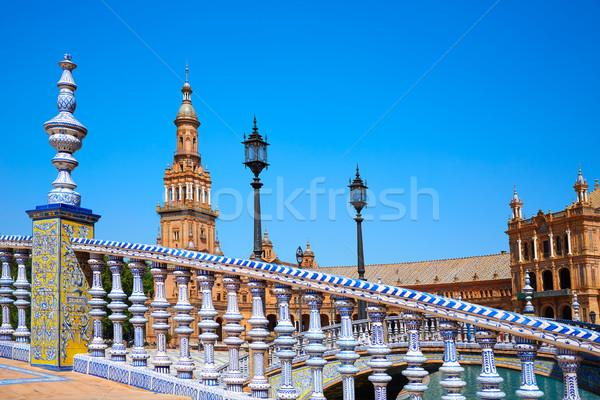 スペイン 広場 橋 旅行 アーキテクチャ 方法 ストックフォト © lunamarina