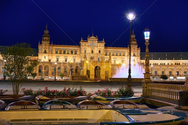 Seville Sevilla Plaza Espana sunset Andalusia Spain Stock photo © lunamarina