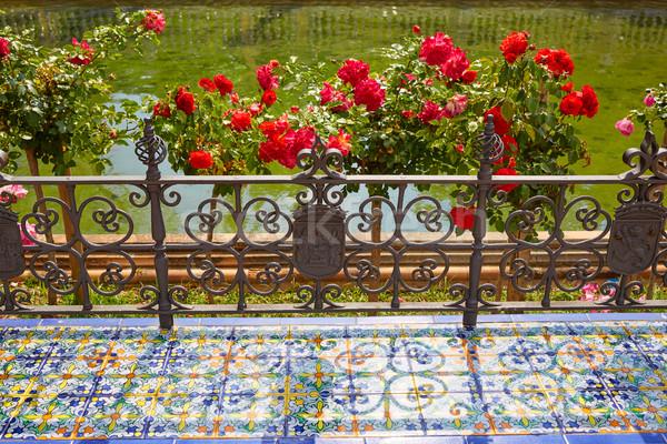 Seville Sevilla Plaza de Espana in Andalusia Stock photo © lunamarina