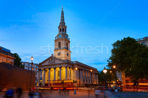 London Trafalgar Square St Martin church Stock photo © lunamarina