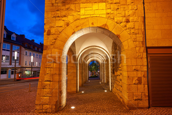 Stock photo: Nordhausen stadthaus archs in Harz Germany