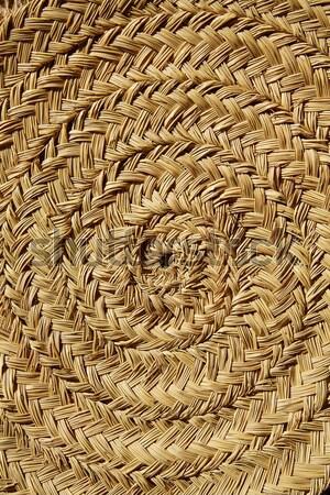 esparto round handcraft basketry circle Spain Stock photo © lunamarina