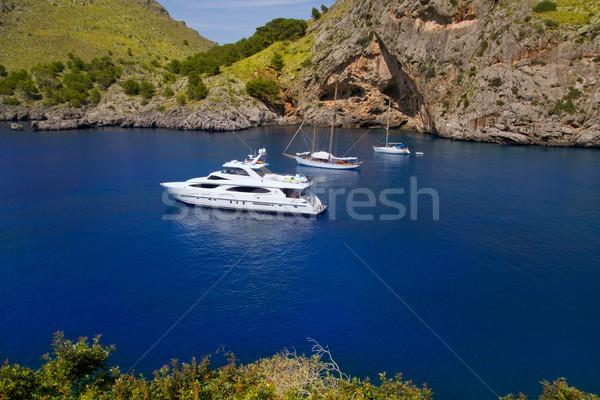 Escorca Sacalobra in Mediterranean north Mallorca Stock photo © lunamarina