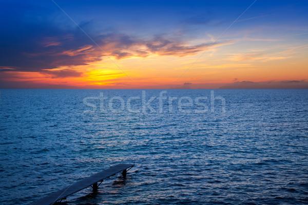 Stock photo: Balearic Formentera island sunset in Mediterranean