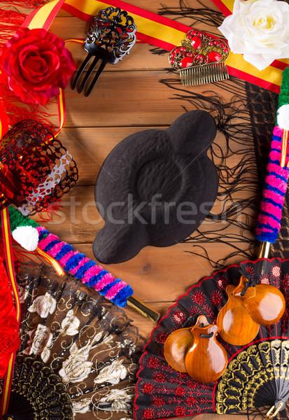 фламенко типичный Испания Hat Сток-фото © lunamarina