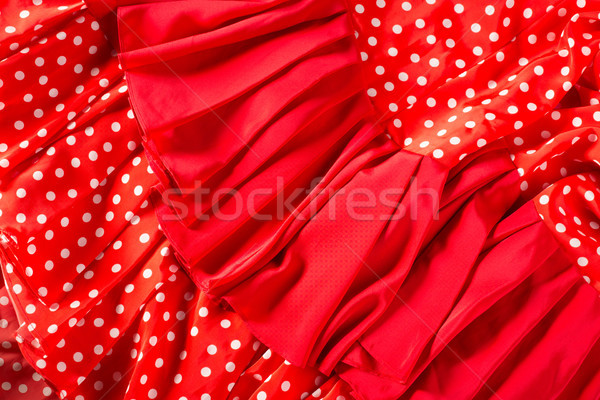 фламенко танцовщицы красное платье Места макроса подробность Сток-фото © lunamarina