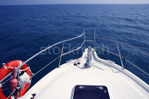 Azul oceano mar ver lancha iate Foto stock © lunamarina