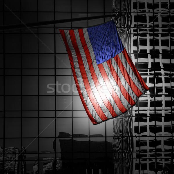 アメリカン シンボル フラグ 黒白 現代 ラ ストックフォト © lunamarina