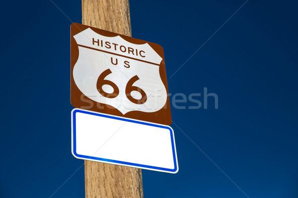 Route 66 yol işareti Arizona ABD yol Stok fotoğraf © lunamarina