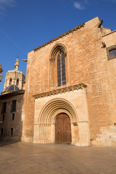 Stock photo: Valencia Cathedral romanesque door Puerta Palau Almoina