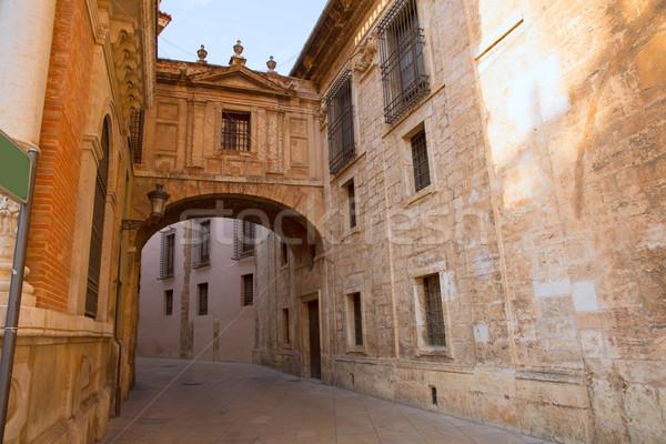 Stock fotó: Valencia · katedrális · ív · utca · Spanyolország · Európa
