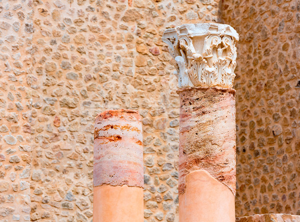 Columns in Cartagena Roman Amphitheater Spain Stock photo © lunamarina