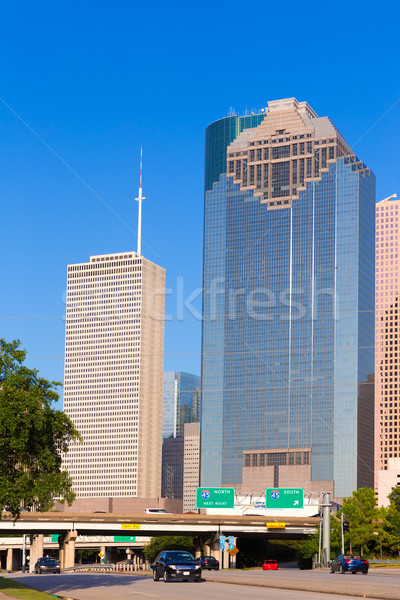 ヒューストン スカイライン テキサス州 空 市 通り ストックフォト © lunamarina