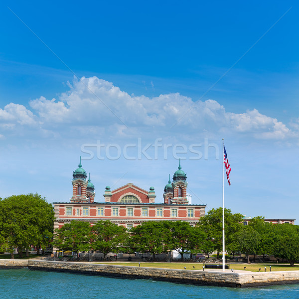 Ellis Island Immigration Museum Jersey city NY Stock photo © lunamarina