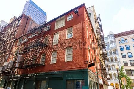 Budynku Manhattan Nowy Jork budynków fasada działalności Zdjęcia stock © lunamarina