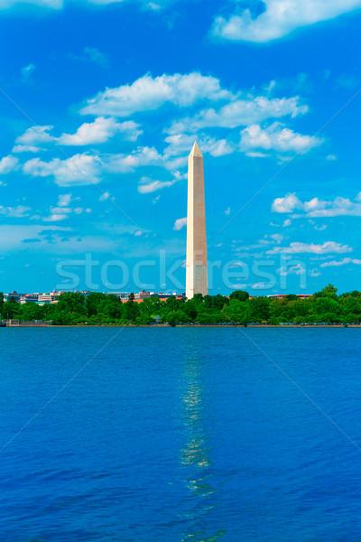 Washington Monument reflected in Tidal Basin DC Stock photo © lunamarina