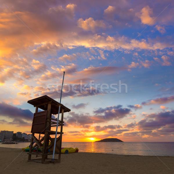 Majorca zonsopgang strand eilanden Spanje water Stockfoto © lunamarina