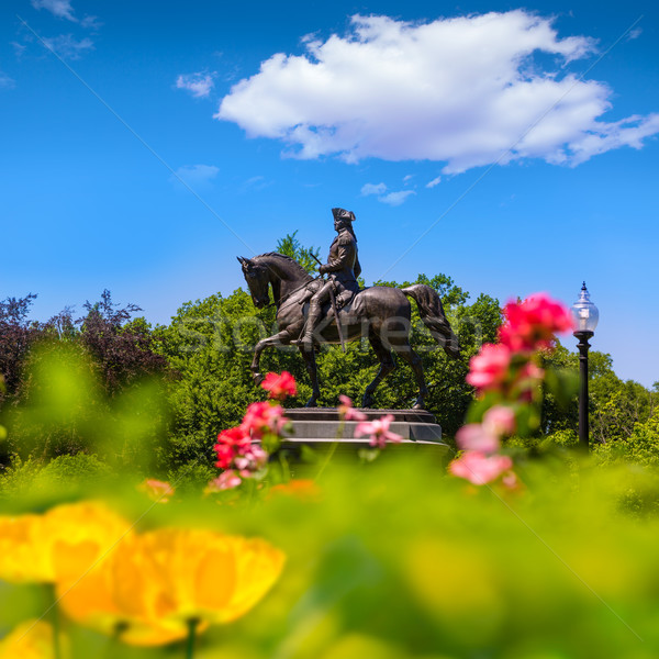 Boston Washington Monument Massachusetts USA fiori primavera Foto d'archivio © lunamarina