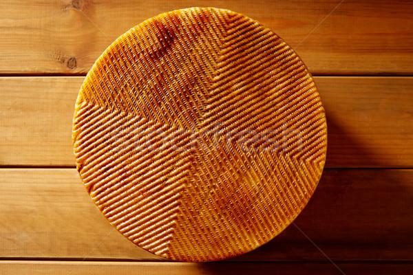ストックフォト: チーズ · スペイン · 木製のテーブル · テクスチャ · 詳細 · 食品